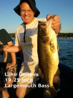 Lake Geneva, Wisconsin client with a nice bass August 2012