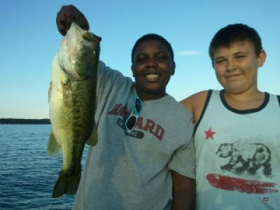 Lake Geneva young clients with nice bass Summer 2013