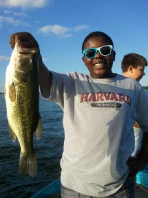 Lake Geneva young client with bass Summer 2013