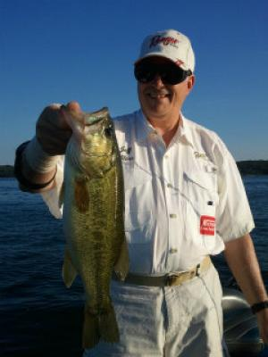 Lake Geneva client with bass Summer 2013