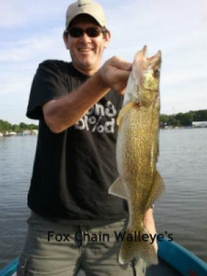 Fox Chain, Illinios client with nice walleye May 2012
