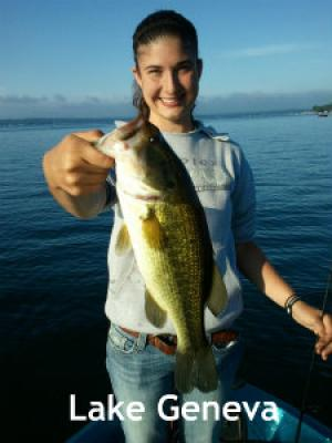 Lake Geneva, Wisconsin client with a nice bass 2012