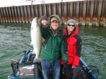 Milwaukee harbor, WI client with nice brown trout December 2011