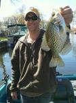 Fox Chain, IL Captain Doug Kloet with giant crappie April 2012